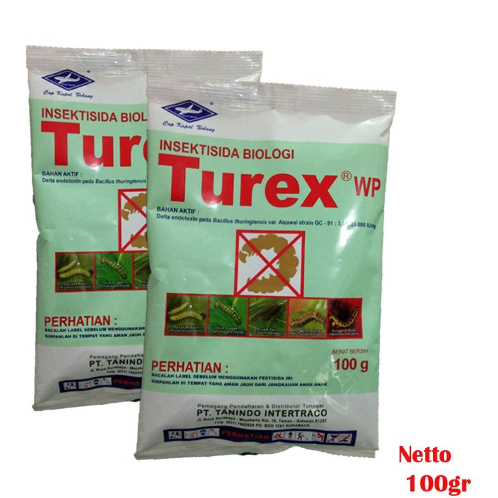 Thurex, salah satu contoh merk dagang insektisda Bacillus thuringiensis (Bt). Image source : bukalapak.com